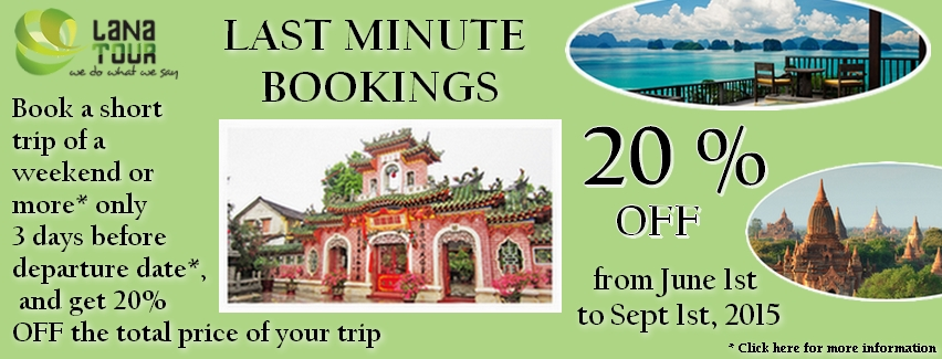 Last minute bookings 2015